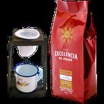 Kit - Café Excelência - de Araxá - Café Superior torrado e moído 500g