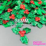 Kit Aplique Folhas Decorativas de Natal