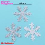 Kit Aplique Decorativo Flocos de Neve