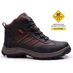 Bota Segurança Adventure EPI CA Gogowear 100% Couro ref Fall cor Café / NY 317