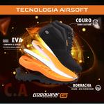 Bota Segurança Adventure EPI CA Gogowear 100% Couro ref X-Terra cor Nob Preto