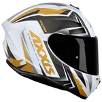 CAPACETE AXXIS DRAKEN VECTOR GLOSS WHITE GOLD