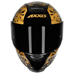 CAPACETE AXXIS EAGLE BREAKING GLOSS BLACK/GOLD