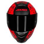 CAPACETE AXXIS EAGLE BREAKING MATT BLACK/RED