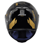 CAPACETE EAGLE DIAGON GLOSS BLACK/GOLD