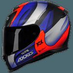 CAPACETE EAGLE TECNO MATT BLACK/RED/BLUE