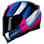 CAPACETE EAGLE TECNO GLOSS BLACK/PINK/BLUE
