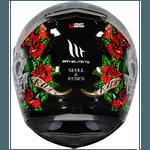 CAPACETE MT REVENGE SKULL&ROSE BLACK/RED
