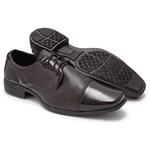 Sapato Social Masculino Em Verniz Café 701