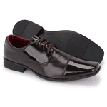Sapato Social Masculino Em Verniz Café 801