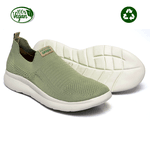 Tênis Ortopédico Green Sustentável Knit Aspargo