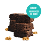 combo brownie vegano 06 unidades (60g) mr. veggy