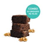combo brownie vegano 03 unidades (60g) mr. veggy