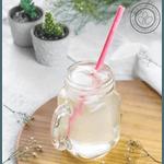 Kit canudo silicone | canudo rosa + escova de limpeza