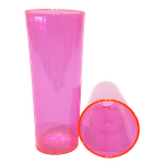 Copo Long Rosa Neon - Caixa com 100 unidades