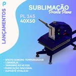 Prensa Plana PL145 | 40x50 1 bandeja com aviso sonoro e contador de peças
