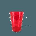 Copo Twister sem tampa e sem canudo 700ml - Caixa com 50 unidades Vermelho aberto