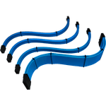 Kit 4 Cabos Sleeved Azul Extensor Fonte Rise Mode
