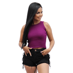 Cropped Tricot Roxo