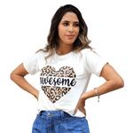 T-Shirt Onça Awesome - Off White