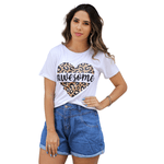 T-Shirt Onça Awesome - Branca