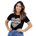 T-Shirt Onça Awesome - Preta