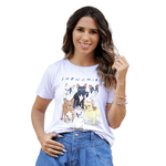 T-Shirt French Dogs - Branca