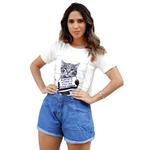 T-Shirt Gato Surtado - Off White
