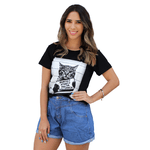 T-Shirt Gato Surtado - Preta