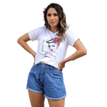 T-Shirt Girl Power Force - Branca