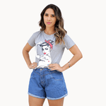 T-Shirt Girl Power Force - Cinza