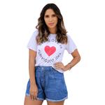 T-Shirt Self Love - Branca