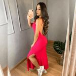 Vestido Longo Costas Nua - Pink