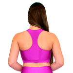 TOP CROPPED FITNESS LUASAL FUCHSIA LISO