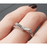 Anel de Laço Cravejado