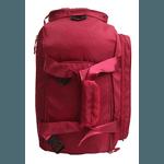 Bolsa Mala Transversal Impermeável Com Bolos Laterais E Espaçosa Rosa Vermelho