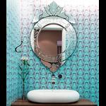 Espelho Redondinho - Moldura Trabalhada