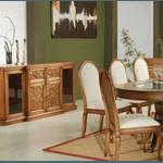 Sala de Jantar Com Mesa (2,50m) + 8 Cadeiras + Balcão - Linha Diana