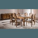 Mesa De Jantar 2,50m Em Madeira Maciça - Linha Luxo