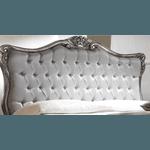 Cabeceira Com Tecido Liso Queen + 2 Mesas de Cabeceira - Linha Luxo