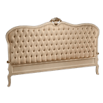Cama Entalhada Provençal King (1,95) + 2 Criados com Designe da Cama