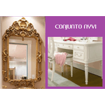 Bancada Provençal com Tampo de Vidro + Espelho Versalhes
