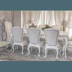 Conjunto Mesa de Jantar Vintage (2,20m) + 2 Cadeiras Antique Espaldar Alto + 6 Cadeiras Antique Espaldar Baixo