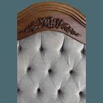 Cabeceira Entalhada Provençal Com Capitonê Queen (1,60m)- 100% Madeira Maciça