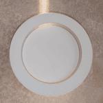 Arandela Plafon Polar Branca Redonda Led 6W Interlight 4239-N
