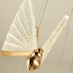 Pendente Dourado Led Borboleta Bivolt SindoraDCD00251