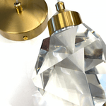 Pendente Led Dourado em Metal e Cristal Bivolt Sindora DCD02103