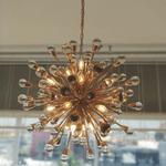 Pendente Núcleo Metal Dorado Cristal Transparente Mantra 30517
