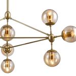 Pendente Orbe Dourado Fosco 10 Lâmpadas Bella Iluminação OP056G