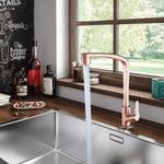 Torneira Cozinha de Mesa Bica Móvel 1/4 Rose Gold RG F71 Lorenzetti 7111104